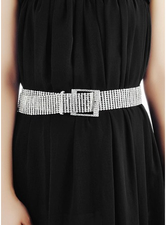Fashionable Alloy Belt With Rhinestones