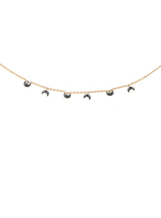 Silver Moon Charm Necklace For Women For Girlfriend