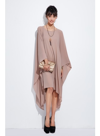 Chiffon Asymmetrical Dress