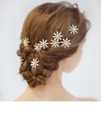 Ladies Beautiful Alloy Hairpins With Rhinestone (Set of 3)