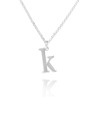 Custom Sterling Silver Letter Signature Initial Necklace - Birthday Gifts Mother's Day Gifts