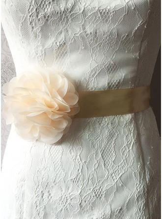 Elegant Satin Sash With Flower