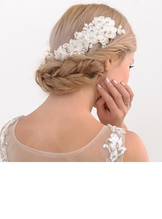Ladies Nice Satin Combs & Barrettes With Venetian Pearl (Sold in single piece)