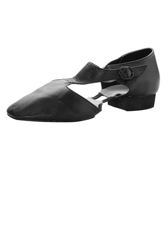 Women's Real Leather Flats Jazz Dance Shoes