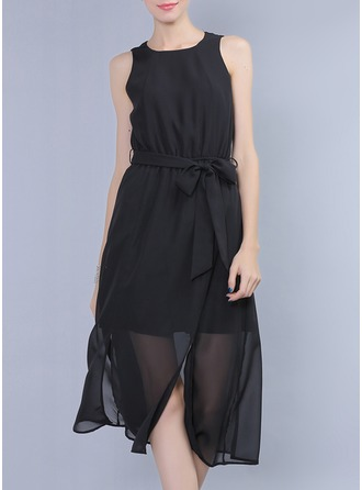 Polyester/Chiffon Midi Dress
