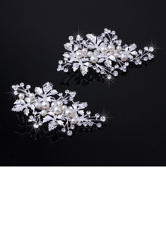 Ladies Unique Rhinestone/Alloy Hairpins (Set of 2)