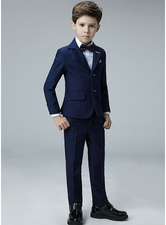 Boys 4 Pieces Formal Ring Bearer Suits /Page Boy Suits With Jacket Shirt Pants Bow Tie