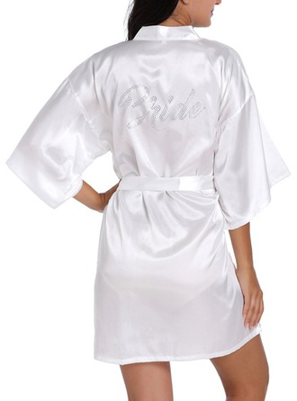 Satin Bride Bridesmaid Rhinestone Robes
