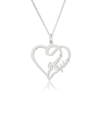 [Free Shipping]Custom Heart Two Name Necklace Heart Necklace - Birthday Gifts Mother's Day Gifts (288211311)