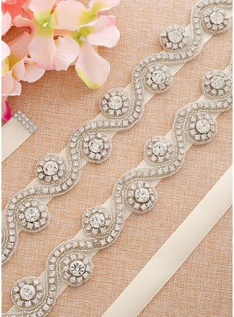 Elegante Satén Fajas con Diamantes de imitación