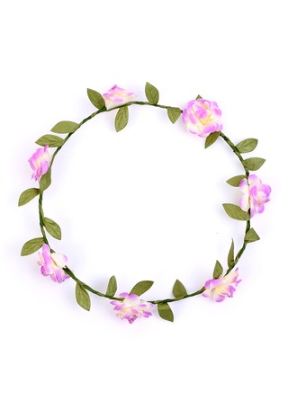 Artificial Silk With Flower Flower Headband