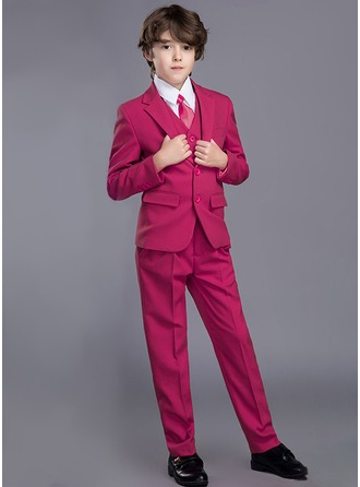 Boys 5 Pieces Elegant Ring Bearer Suits /Page Boy Suits With Jacket Shirt Vest Pants Tie