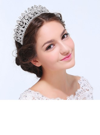 Ladies Romantic Alloy Tiaras With Rhinestone