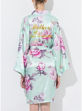 Cotton Mom Floral Robes Glitter Print Robes