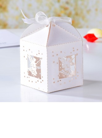 Angel Hollow-out Cuboid Favor Boxes