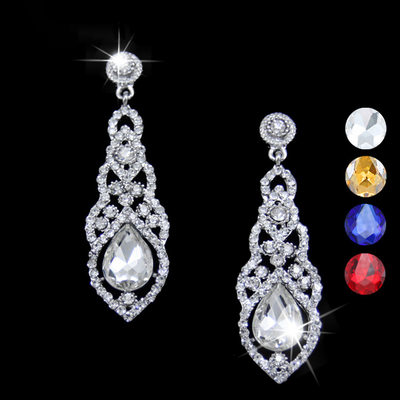Romantic Alloy/Rhinestones Ladies' Earrings