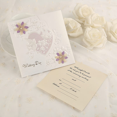 Classic Style Side Fold Invitation Cards (Set of 50)