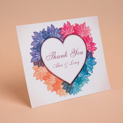 Personalized Heart Style Thank You Cards (Set of 50)