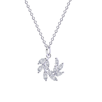 Ladies' Elegant 925 Sterling Silver With Cubic Cubic Zirconia Necklaces For Bride/For Friends