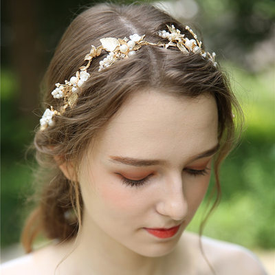 Ladies Beautiful Alloy/Imitation Pearls/Ceramic Headbands With Venetian Pearl
