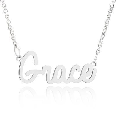 Custom Sterling Silver Name Necklace