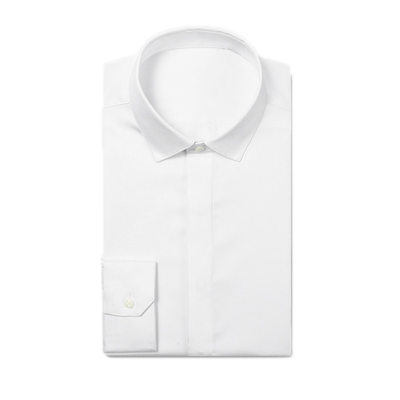 Formal Fly Front Textured Dress Shirts