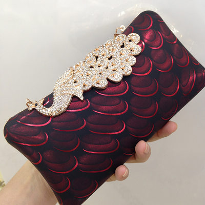Charming Crystal/ Rhinestone/PU Clutches/Satchel/Bridal Purse/Evening Bags