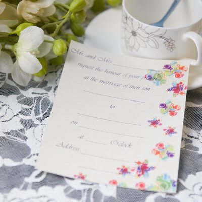 Modern Style Carte plate Invitation Cards