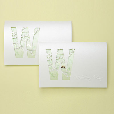 Vintage Style Tri-Fold Invitation Cards (Set of 50)