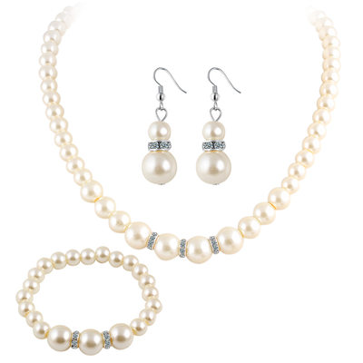 Classic Imitation Pearls Ladies' Jewelry Sets