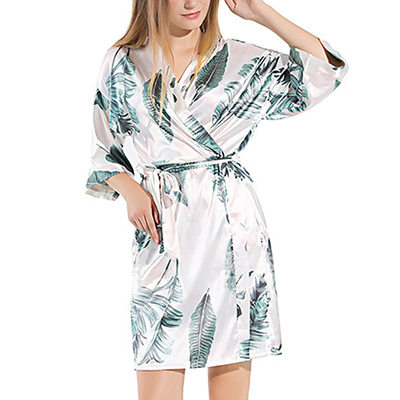 Bride Gifts - Sexy Beautiful Classic Charmeuse Robe (Sold in a single piece)