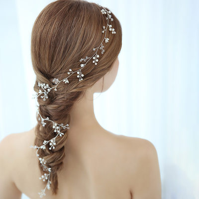 Ladies Glamourous Alloy Headbands With Venetian Pearl (Sold in single piece)