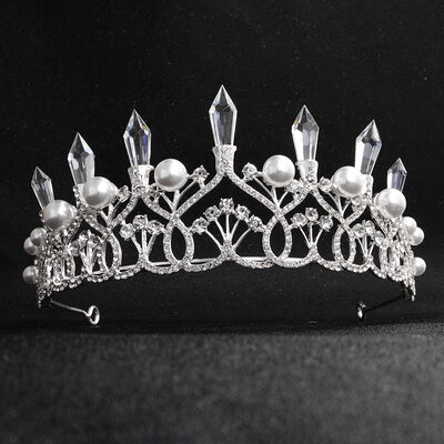 Ladies Rhinestone/Alloy Tiaras (Sold in single piece)