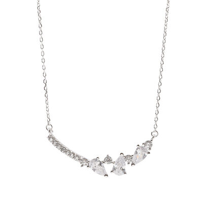 Ladies' Elegant 925 silver and chain/Cubic Zirconia Cubic Zirconia Necklaces For Bride