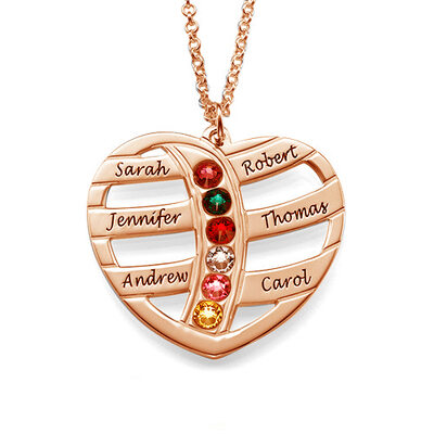 Custom Name Necklace Heart Necklace Birthstone Necklace -