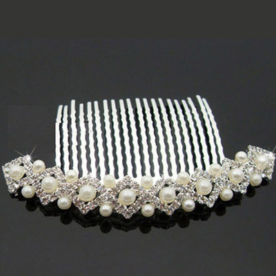 Charming Alloy/Czech Stones With Pearl Ladies' Hair Jewelry