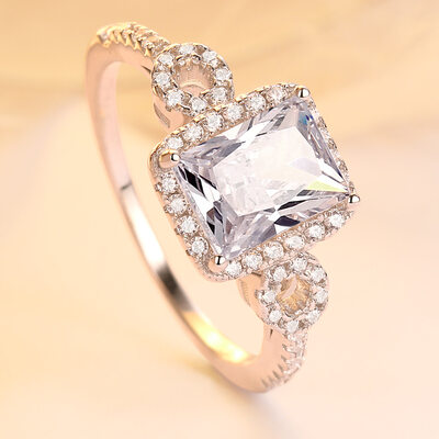 925 Sterling Silver Cubic Zirconia Rings/Engagement Rings/Promise Rings For Bride