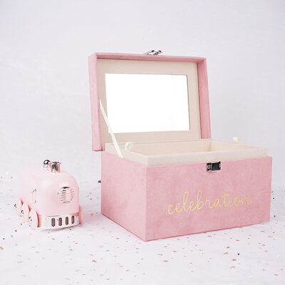 Bride Gifts - Simple Delicate Velvet Jewelry Box Gift Box/Bag