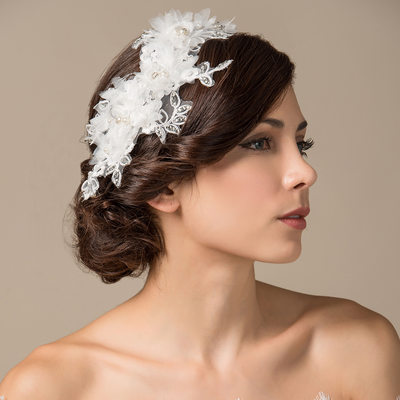 Unique Imitation Pearls/Artificial Silk/Lace Flowers & Feathers/Headbands