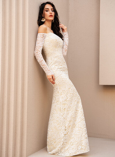Trumpet/Mermaid Off-the-Shoulder Floor-Length Prom Dresses