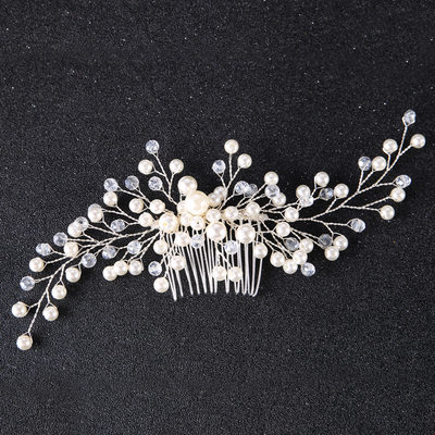 Ladies Elegant Alloy/Imitation Pearls Combs & Barrettes With Venetian Pearl