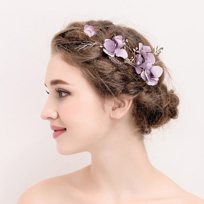 Ladies Romantic Crystal/Rhinestone/Alloy/Imitation Pearls/Silk Flower Hairpins