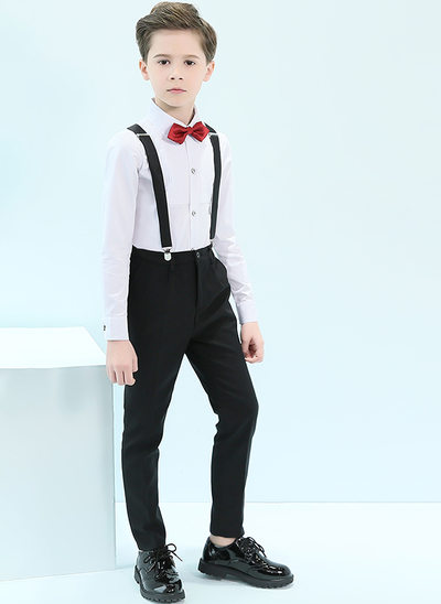 Boys 4 Pieces Classic Ring Bearer Suits /Page Boy Suits With Shirt Pants Bow Tie Suspender