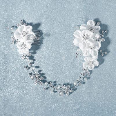 Damer Vakkert Rhinestone/Imitert Perle Kammer og Barrettes med Rhinestone/Venetianske Perle (Selges i ett stykke)