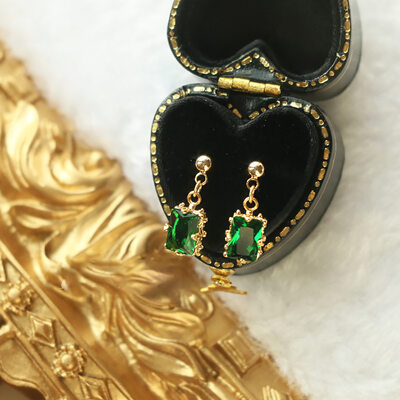 Ladies' Vintage Gold Plated/Brass With Cubic Cubic Zirconia Earrings For Bride/For Bridesmaid
