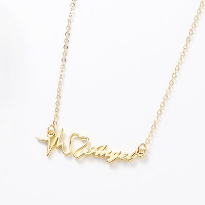 Personalized Ladies' Simple Stainless Steel Name Necklaces Necklaces For Bridesmaid/For Mother/For Friends/For Her