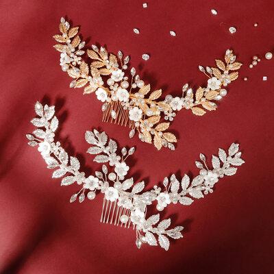 Damen Schöne Strass/Faux-Perlen Kämme und Haarspangen mit Strass/Venezianischen Perle (In Einem Stück Verkauft)