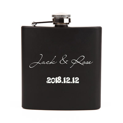 Groom Gifts - Personalized Classic Stainless Steel Flask