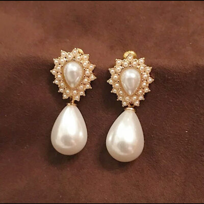 Elegant Alloy/S925 Sliver Imitation Pearls Earrings For Bride