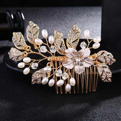 Ladies Amazing Alloy Combs & Barrettes With Venetian Pearl
